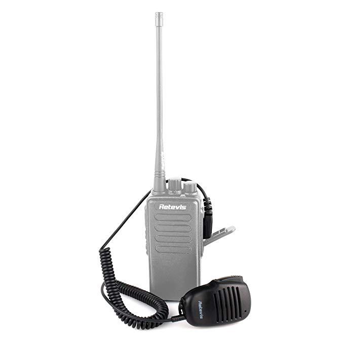 Retevis feet Loa radio hai chiều Microphone vai microphone tương thích Baofeng UV-5R BF-888S BF-F8HP