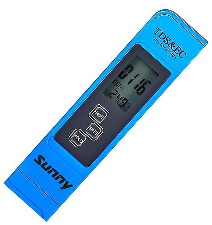 Máy đo nước chất lượng cao. Chuyên nghiệp TDS EC và nhiệt kế. 3 trong 1. Bảo hành trọn đời! Máy thử