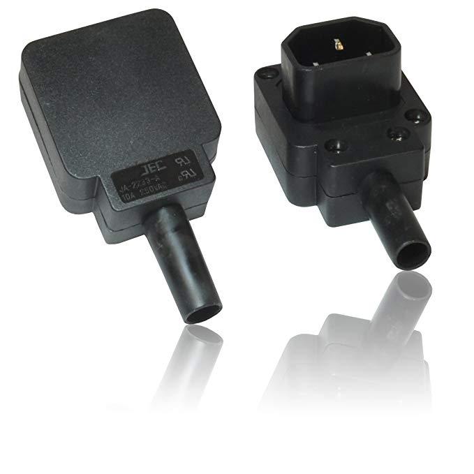 CDL Micro 250 V 90 độ IEC C14 / C13 vít thiết bị đầu cuối kết nối kết nối cắm