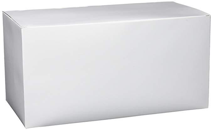 Hộp quà màu trắng Amscan (cao 15,24 cm x rộng 30,48 cm x rộng 15,24 cm)
