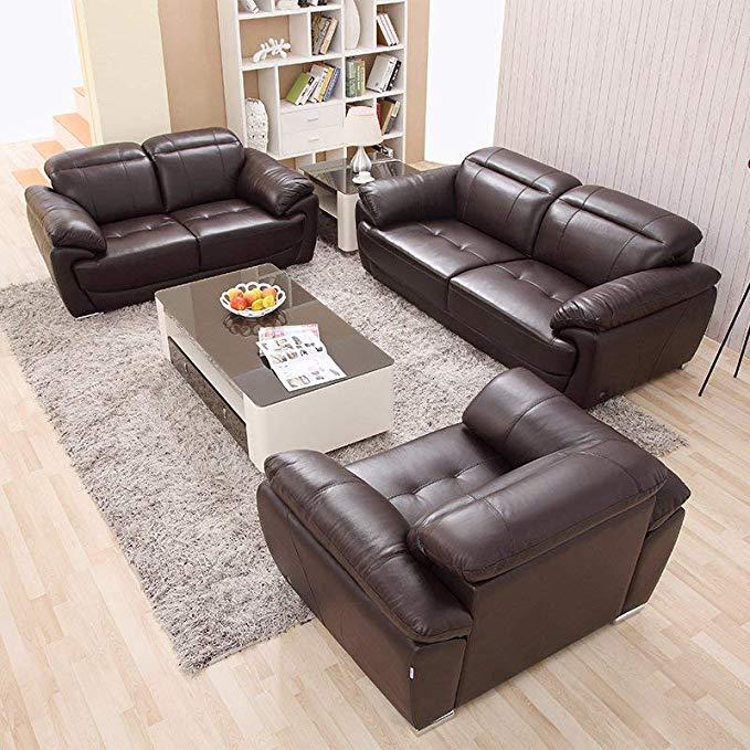 Nội Thất Phòng Khách : Bộ Ghế sofa  hình chữ U , bằng da dày .