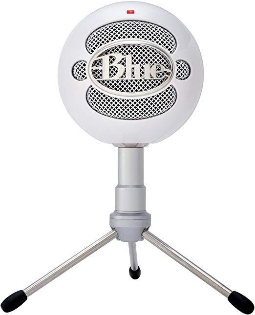 Màu xanh microphone snowball ICE condenser microphone, hình trái tim