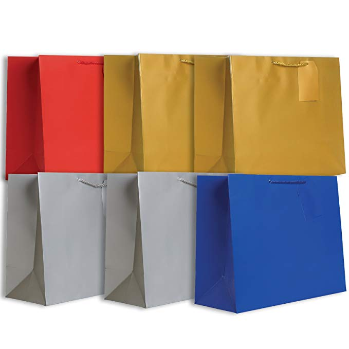 Jillson Roberts 6 túi tote nhỏ cho tất cả các dịp túi quà tặng Bạc / Vàng / Đỏ / Hoàng Gia