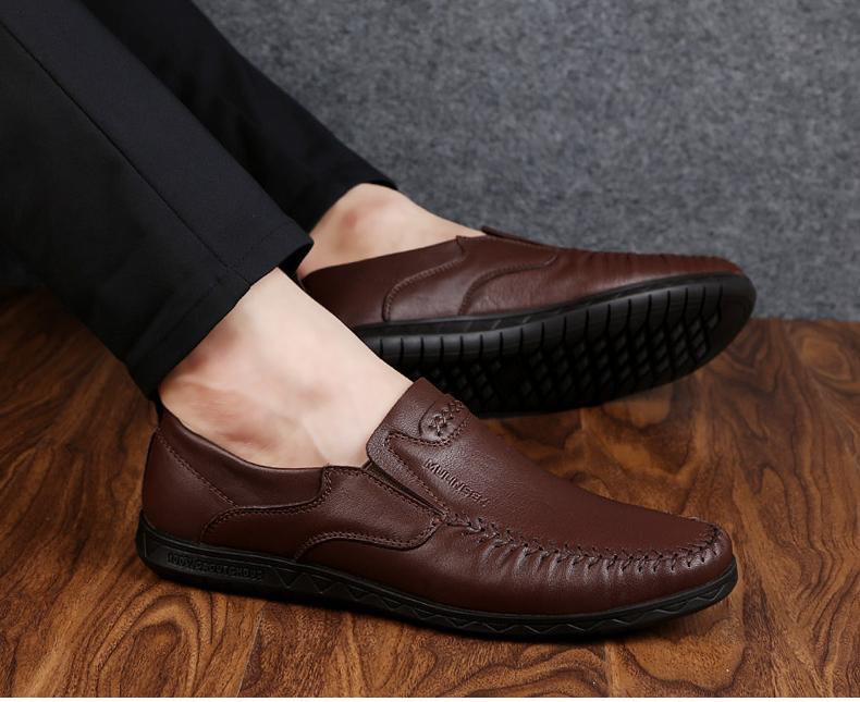 Giày mọi Gommino Bằng Da mềm dành cho nam , Thương hiệu:  Mu Linsen.