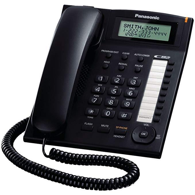 Điện thoại có dây tích hợp Panasonic KX-TS880B KX-TS880B đen