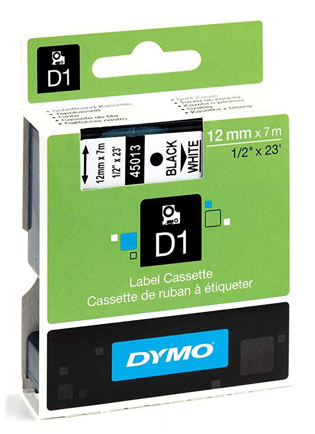 DYMO Delta nhãn máy ribbon 45013 12 mét đen trên trắng D1 sticker giấy