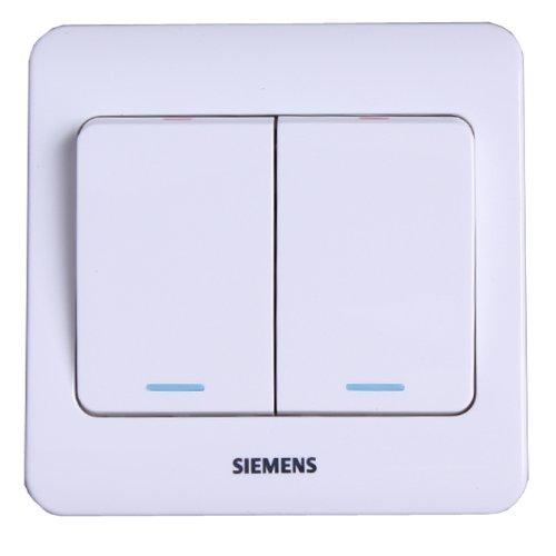 SIEMENS Siemens Vision Series với công tắc điều khiển đơn mở đôi huỳnh quang (Ya White) 5TA01151CC1S