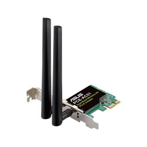 Card mạng PCI-E không dây tần số thấp AC750 của ASUS PCE-AC51