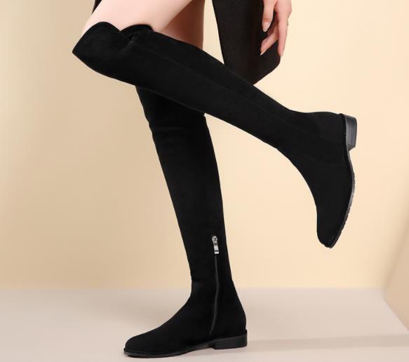 Giày Ống dài bằng da mềm dành cho Nữ .