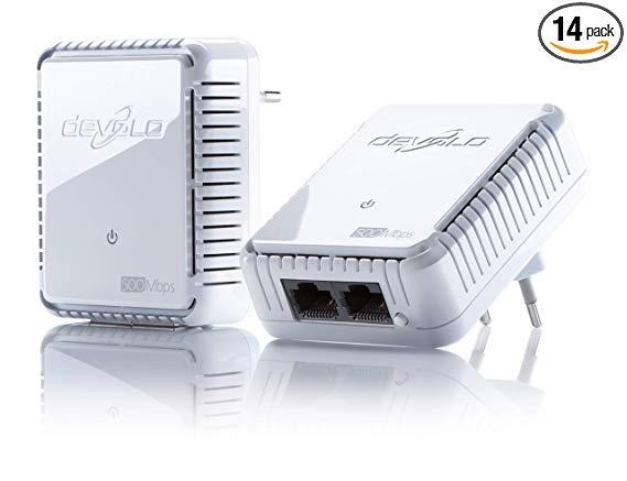 Bộ khởi động công suất cat cat hai mảnh Devolo dLAN 500 (tốc độ truyền mạng ổ cắm 500 Mbps, 2 cổng L