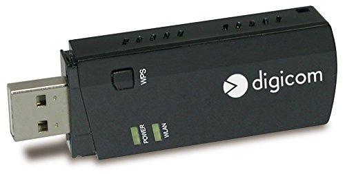 NIC USB không dây băng tần kép Ac600 Digicom 150 Mbps 433 Mbps WPS