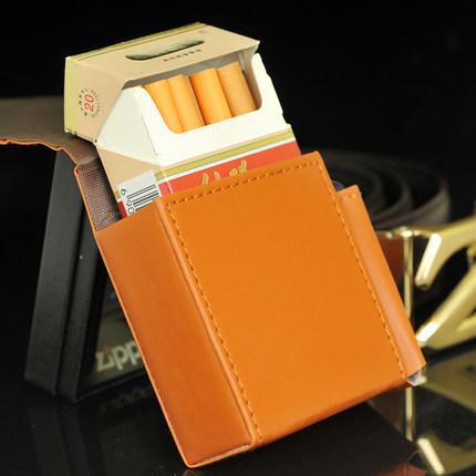Chính hãng đôi súng da thuốc lá ví có thể được đưa vào gói thuốc lá + nhẹ hơn vành đai khóa mặc có t