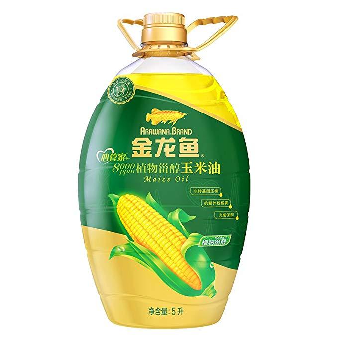 Arowana sterol dầu ngô 5L / chai dầu ngô vật lý cách nhấn phytosterol dầu ăn