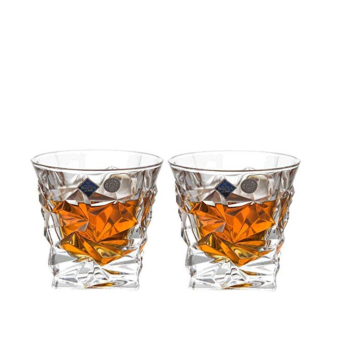 Crystalite Bohemia Bohemian Ice Whiskey Cup 93K52 / 350 Crystal Glass Trong suốt Whiskey Cup 350ml 2