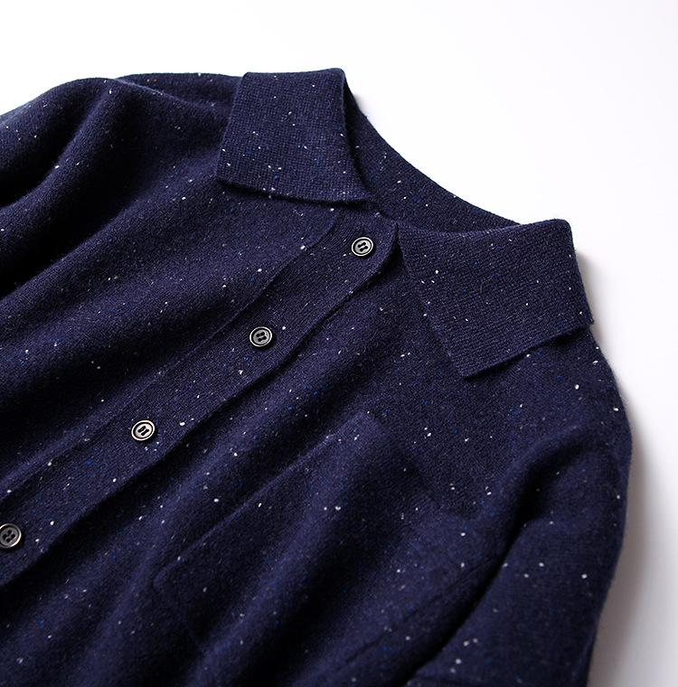 Áo Len Đan Kiểu Ý tưởng cổ điển , đơn giản ,sợi mềm .