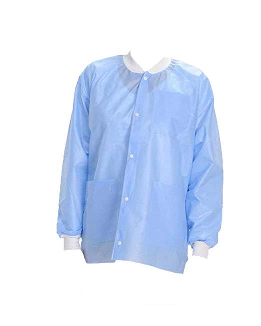 10 cái (nhỏ, màu xanh) EZ-5 chuyên nghiệp dùng một lần áo khoác phòng thí nghiệm, latex-miễn phí, kh
