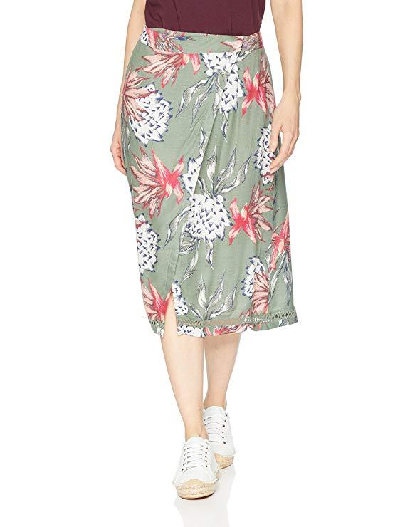 Chân Váy Xòe Nhẹ Vải In Hoa Đơn Gian nhẹ nhàng . Hiệu : ROXY