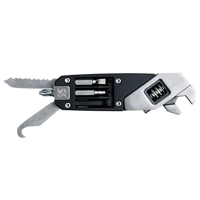 SWISS + TECH Công nghệ Thụy Sĩ ST41070 Đen Brushed thép không gỉ Seven-in-One Wrench Công cụ điều ch