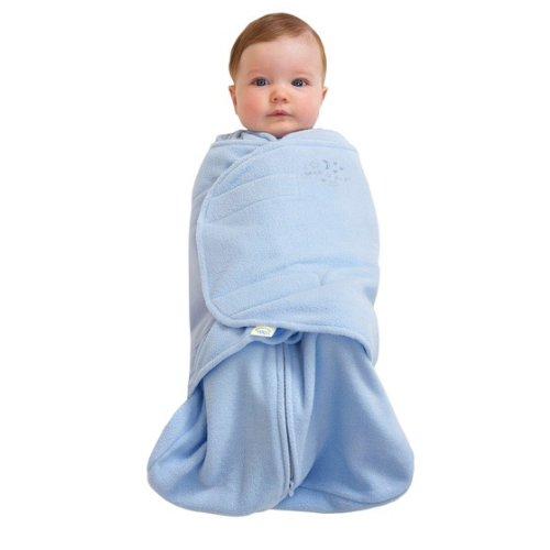 Hoa Kỳ HALO Hera Túi ngủ an toàn em bé bọc lông cừu siêu mịn 2 trong 1 Baby Blue S (3-6 tháng) Mùa t