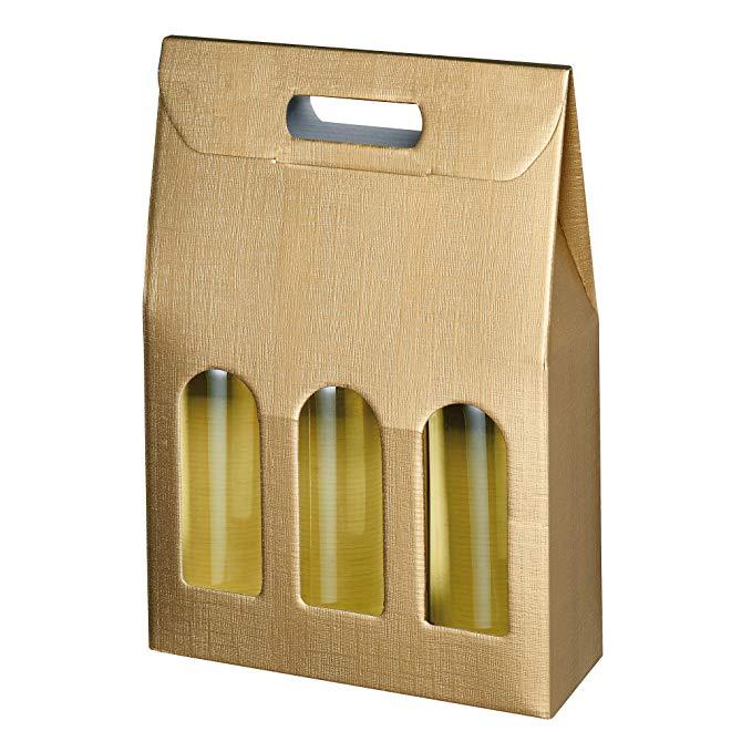 Trường hợp Travel Card Susy, Gói quà tặng, Gói Honeycomb, 1 Bottle für 3 Flaschen Gold