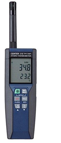 Nhiệt kế kỹ thuật số chính xác cao FUSO và máy đo độ ẩm (có độ dài dữ liệu) CENTER-318