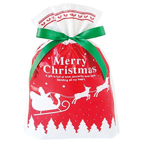 Túi quà PE với nơ Giáng sinh (20) XBA-RBS nhỏ