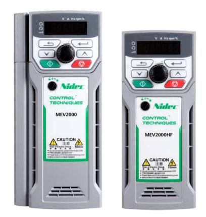Nideko / Emerson biến tần MEV2000-40022-000 ba pha 380V 2.2kw một năm bảo hànhNideko / Emerson biến