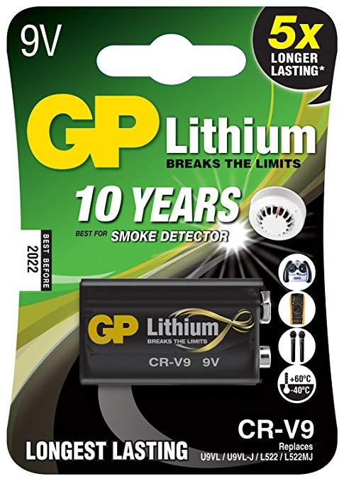 9 V pin lithium GP