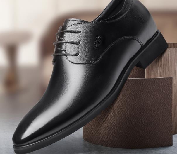 Nhãn hiệu: Gog- giày Tây Bằng Da tăng chiều cao vô hình cho nam  .