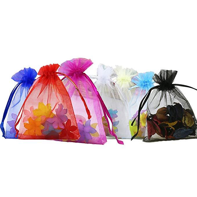Anleolife hỗn hợp màu organza túi, christmas quà tặng túi, túi đồ trang sức, kẹo túi, túi quà tặng 1