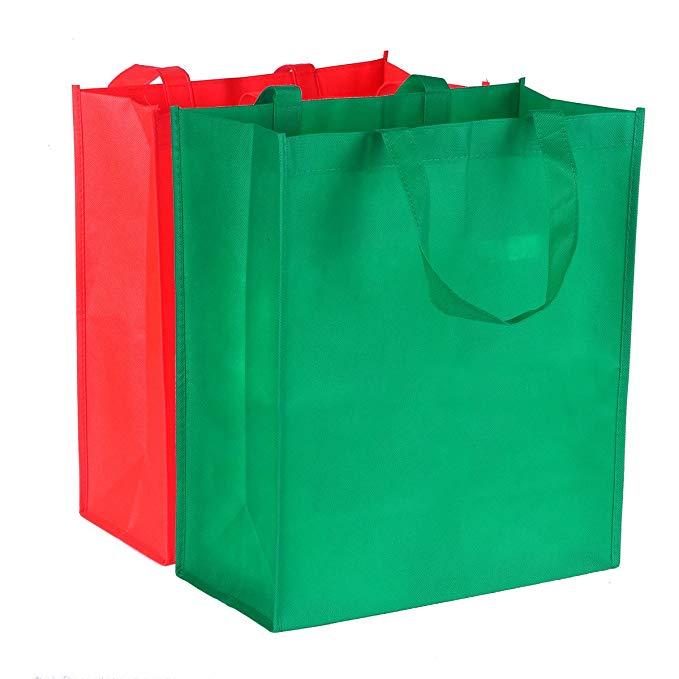 Túi mua sắm hàng tạp hóa không dệt Kangsong Túi Eco Reusable Tote 38,1 cm Chiều cao x 31,24 cm Chiều