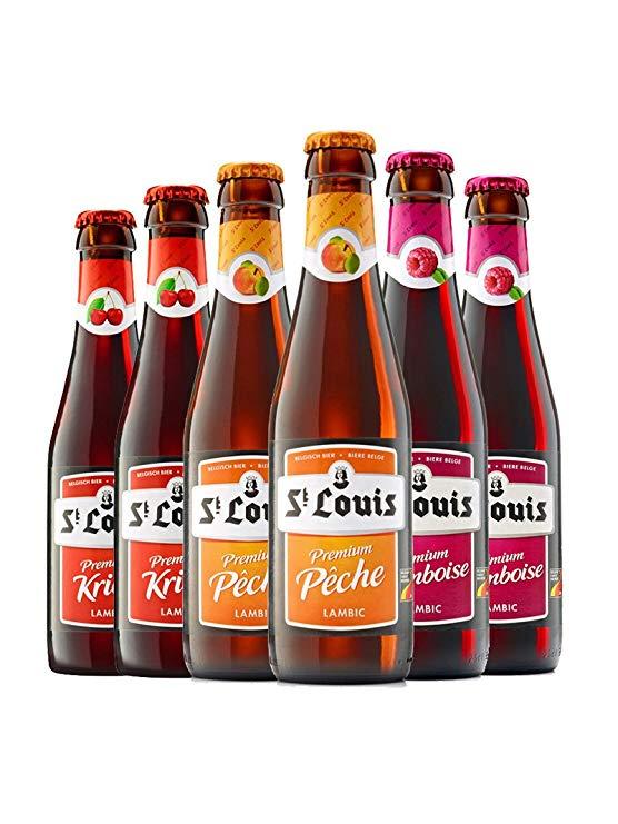 Bỉ nhập khẩu bia kết hợp 6 chai Bia thủ công Trái cây bia Lúa mì bia Nhập khẩu bia đen Hương vị kết