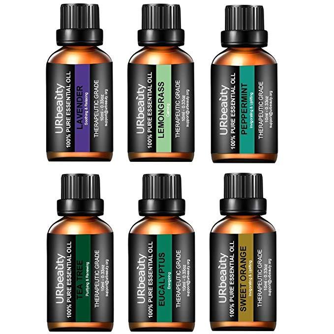 Tinh dầu URbeauty, cập nhật 6 mùi thơm * Tinh dầu * Tinh khiết hoa oải hương, bạc hà, cam ngọt, bạch