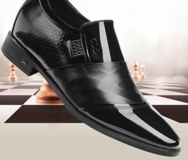 Gog - giày Tây Bằng Da tăng chiều cao vô hình cho nam  .