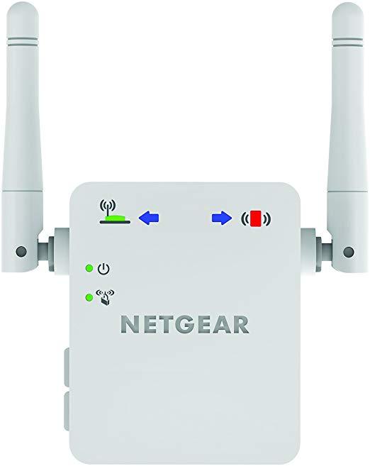 Netgear Netease WN3000RP-200UKS 300 Mbps Bộ mở rộng phạm vi Wi-Fi toàn cầu (Wi-Fi Enhancer) với đèn
