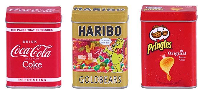 Tanner 566 Coca Cola / Haribo / Pringels Kim loại có thể đặt
