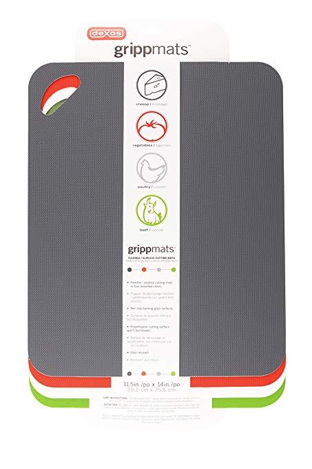Dexas giấy nhám nặng, bảng cắt linh hoạt bộ bốn Xám, Đỏ, Trắng, Xanh lá cây 11.5 x 14 inch COMINHKG0