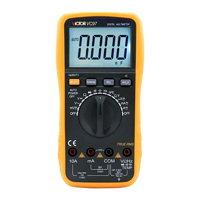 Victor Victory Instrument VC97 Auto Range Digital Multimeter Đo Nhiệt Độ Tần Số với Đèn Nền
