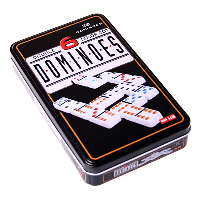 Weiblespiele 250101 - Domino Double 6 Metal Can