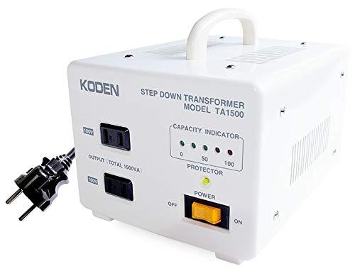 Máy biến áp du lịch TA-1500 ở nước ngoài 220V ~ 240V-100V