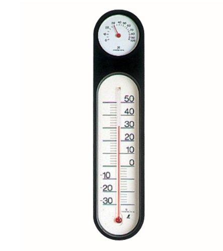 SHINWA đo nhiệt kế và máy đo độ ẩm PC oval đen khoảng 295 × 68 × 18 mét 48929
