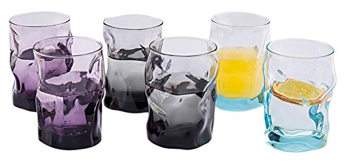 Bormiolirocco Pomioli Roque Italy Nhập khẩu SoJote Colorful Six Pack Glass 300ml 3.404234S6 (2 Viole
