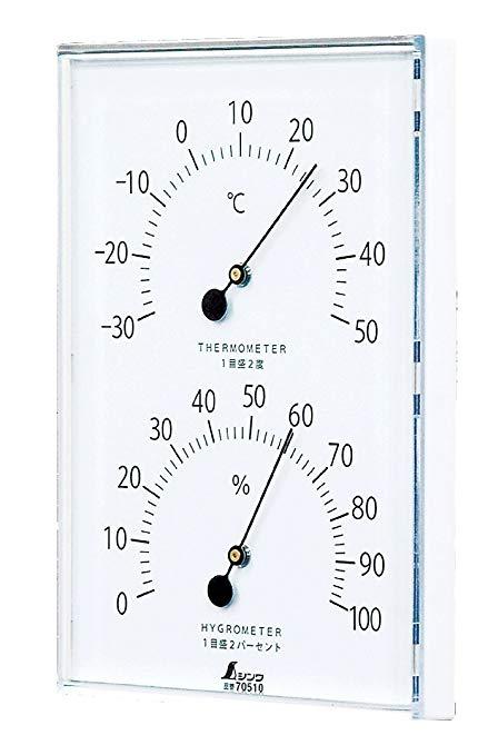 Dập nổi nhiệt kế và máy đo độ ẩm trắng 165 × 120 × 20mm 70510