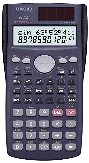 Máy tính chức năng Casio 2 bit hiển thị 199 chức năng 10 bit FX-290-N