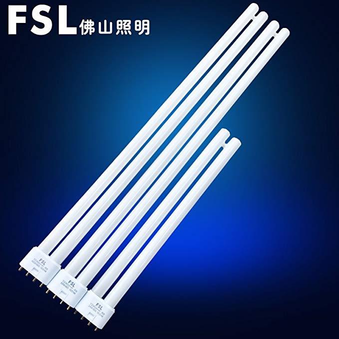 Ánh sáng Phật Sơn loại H đèn phẳng bốn pin ba màu huỳnh quang ánh sáng ban ngày tiết kiệm năng lượng