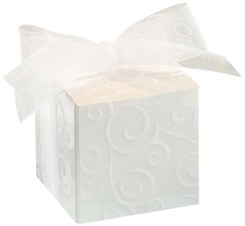 Hộp đựng David Tutera - Đổ xô trắng sẫm - 5,08 cm - 24 miếng