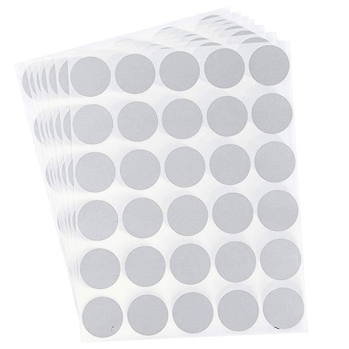 Juvale Scratch Tắt Sticker 2.54 cm Vòng Quý Kích Thước Vòng Tròn DIY Stripped Sticker Sticker Nhãn Đ
