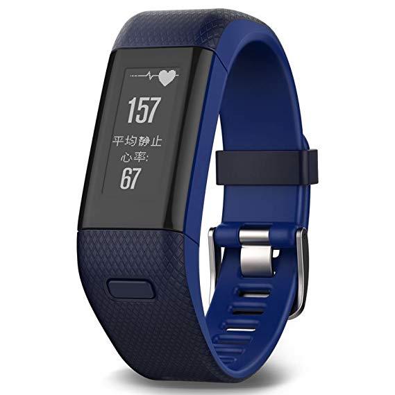 Garmin Garmin vivosmart HR + Màu Xanh GPS Vòng Đeo Tay Thông Minh Heart Rate Theo Dõi thời gian Thực