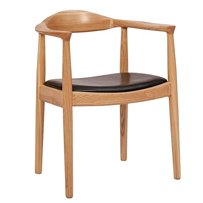 Baijia Hiện Đại nhỏ gọn tất cả-gỗ ghế ăn phòng ăn đồ nội thất nghiên cứu sồi trắng ghế máy tính tịch