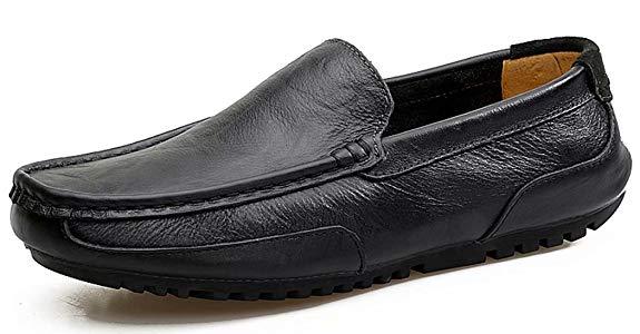 Giày Lười Bằng Da Cho Nam , Hiệu : Weienke